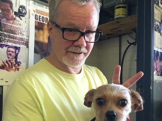 Freddie Roach has five dogs at his home in Los Angeles.