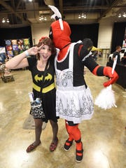 Michael Roden (Dead Pool) poses with Shelby Gerretse