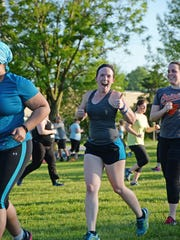 No Sweat in the Park classes take place every Tuesday behind the York Daily Record building in West Manchester Township.