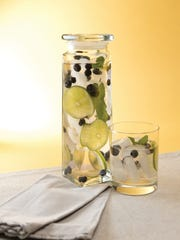 Blueberry, Lime and Mint-Infused Water