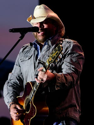 Country music star Toby Keith performs at the 'Bash on the Bay' at Put-in-Bay Airport.