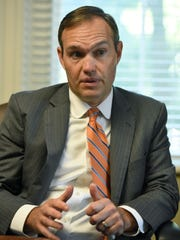 Interview with James Hurley Thursday, Sep. 7, 2017, incoming president of Tusculum College, which is trying to replicate the success of LMU in recent years. Administrators at Tusculum are hoping that hiring Hurley, currently VP for enrollment at LMU, can help with that effort.