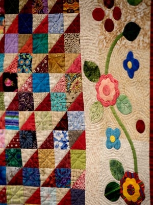 One of many quilts dropped off Saturday, March 3, 2018, at Hillcrest Baptist Church in preparation for the Pensacola Quilters Guild 17th biennial show at the Pensacola Interstate Fairgrounds.