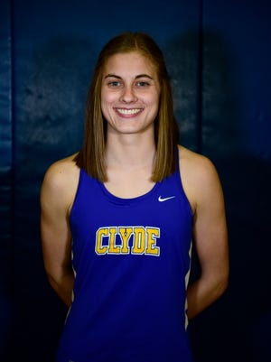 Clyde's Hayley Robinett won the 400 at regionals Saturday and qualified for state with a 4x400 relay.