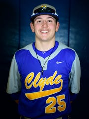 Clyde's Cam Farrar had three RBI on Thursday.