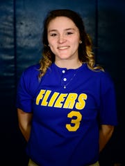 McKenzie DePottey is a varsity starter for Clyde. She hit for the cycle in a game this season.