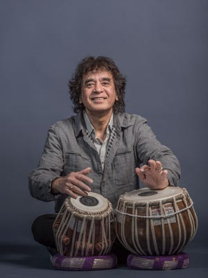 Tabla master Zakir Hussain performs with Crosscurrents on April 28 at Milwaukee Area Technical College's Cooley Auditorium.