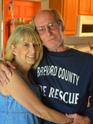Jay Post, pictured with his wife, Maggie, is a retired Brevard firefighter who never smoked, underwent a total laryngectomy in January, his  fourth surgery for throat cancer. He will never talk in his natural voice again.