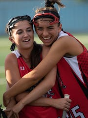 South's Heather Devaney (16, left) and Sabrina Chandler