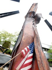 The Bossier City Liberty Garden features a steel beam recovered from the World Trade Center.