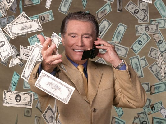 """Host Regis Philbin gave an Indianapolis 500-related question that would lead to the first $1 million prize on """"Who Wants to be a Millionaire."""""""