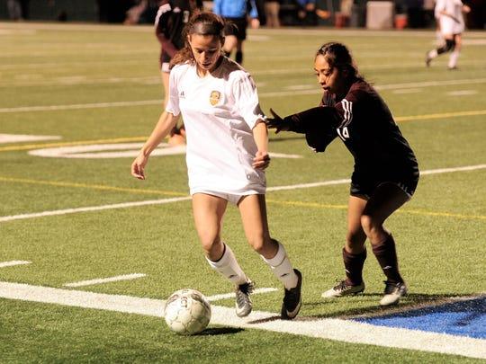 Wylie's Leandra Benton (19) protects the ball from