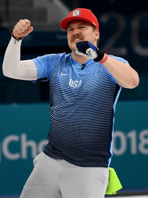 Matt Hamilton of Madison helped bring enthusiasm to the U.S. men's gold-medal winning team.