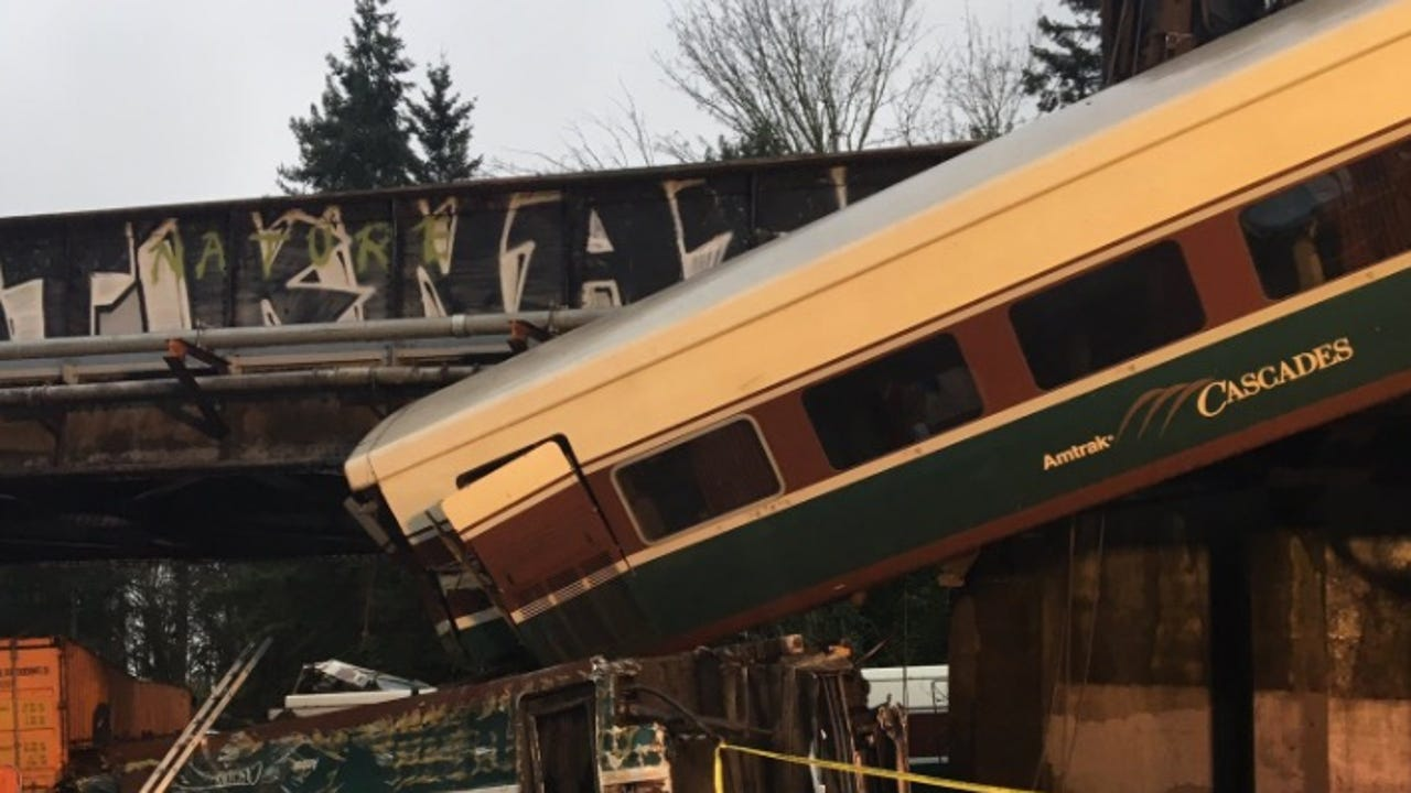 'Injuries and casualties' in Amtrak derailment