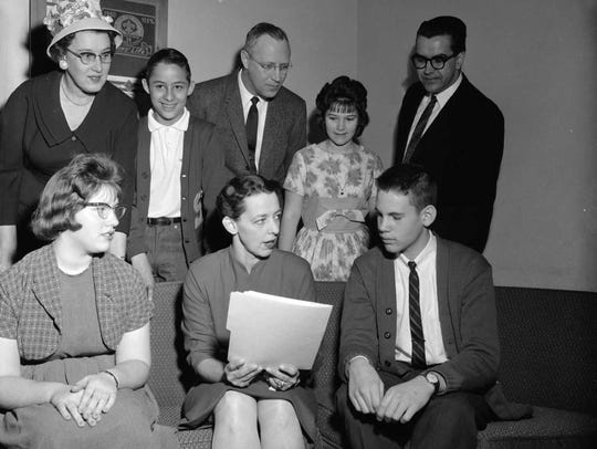 Ivella McWhorter Elsey (seated, center) at Study Junior