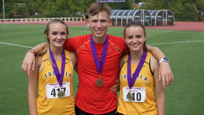 Tuscola's Brooke Turner, Jacob Franklin and Lydia Cagle.