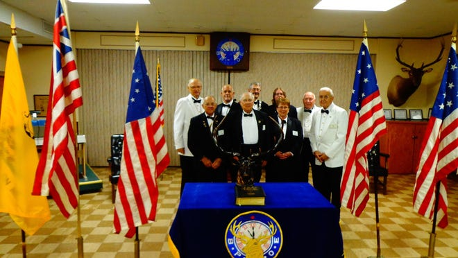The Mountain Home Elks Lodge recently celebrated Flag Day with more than 40 guests attending. Eighteen worn flags were brought to the lodge to be properly retired. The ceremony included the history of U.S. flags from the earliest day of the Revolutionary War to today and featured historical flags of the nation.
