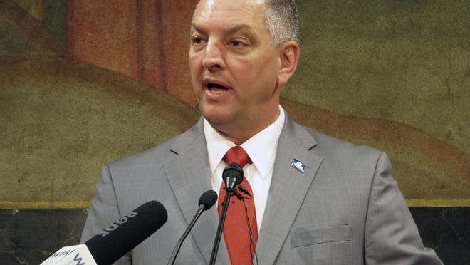 Gov. John Bel Edwards talks about the special legislative session on taxes in Baton Rouge.
