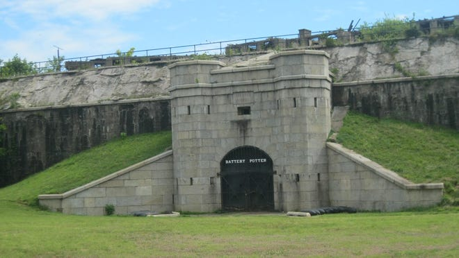 Castle like Mortar Battery's dark, dank interior can be experienced with park ranger led tours.
