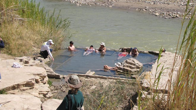 Hot spring on the Rio Grande River in Big Bend National Park. Jiim Stevenson will give a talk on springs on Dec. 15.