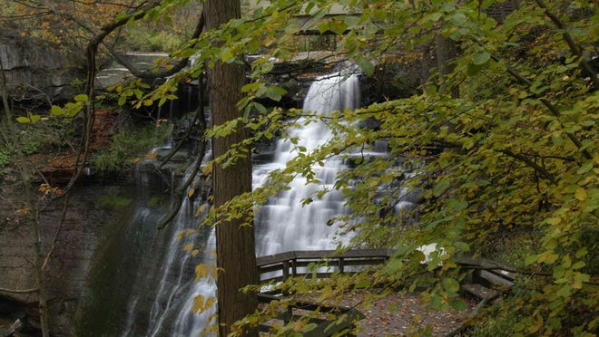 A view of Brandywine Falls from the boardwalk.