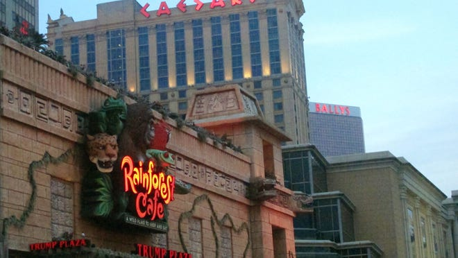 The Rainforest Cafe remains open, after it's owners won a lawsuit against Trump Entertaiment Resorts to allow the restaurant to remain open after Trump Plaza shut down last September.