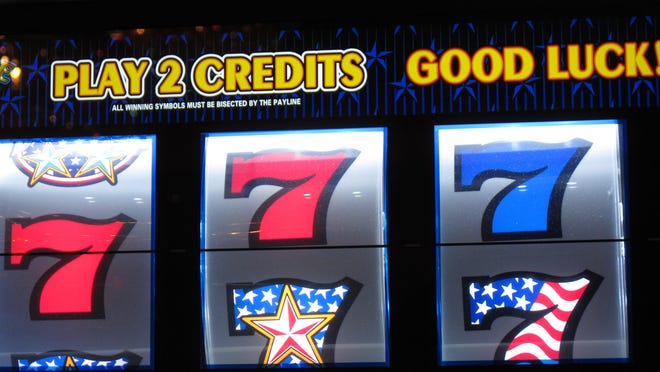 This Nov. 14, 2013 photo shows a slot machine at the Tropicana Casino and Resort in Atlantic City, N.J.