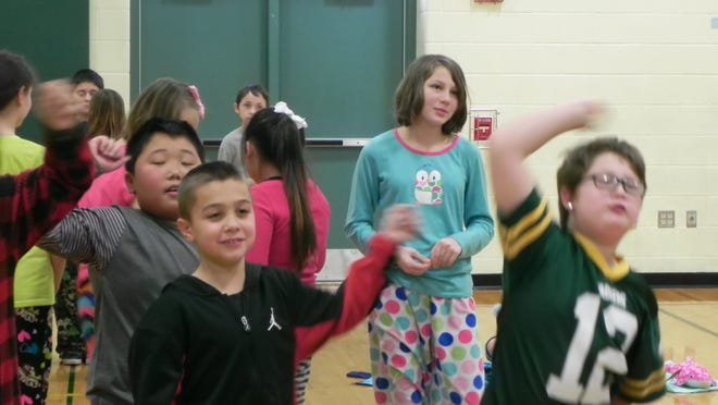 Students at Jefferson Elementary participated in a recognition activity to acknowledge all students who have been demonstrating school-wide expected behaviors.