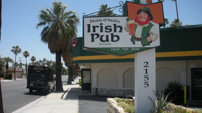 Dickie O'Neal's is an Irish Pub offering traditional menu items and a family friendly vibe in Palm Springs.