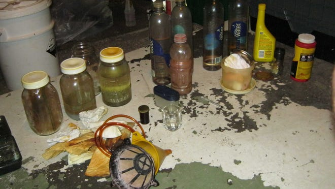 Components of a meth lab