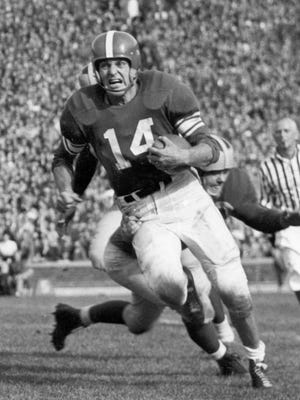 Lynn Chandnois averaged 6.6 yards per carry during his career at MSU in the late 1940s. He also remains the program's career interceptions leader with 20.
