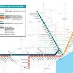 Detroit-area transit plan adds rapid buses, commuter rail