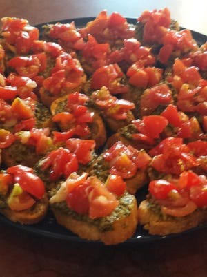 Garden tomatoes are the star of bruschetta this time of year.