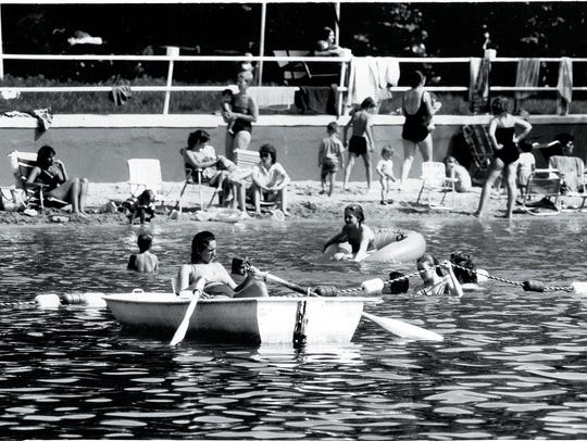 Lake Idle Wild Bathing Beach, Old Tappan, in 1984