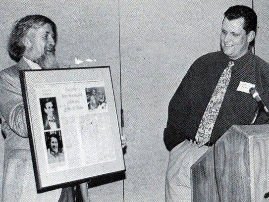 Retired Drake University journalism professor Robert