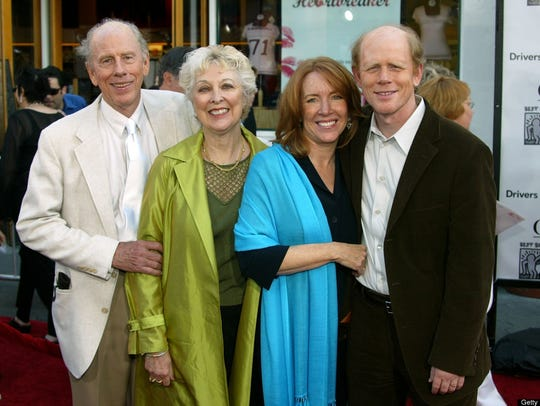 Rance Howard, wife second wife Judy, Cheryl Howard