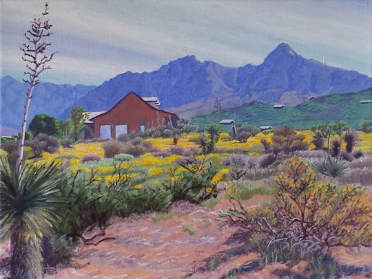 A painting by Rhoda Winters, which will be on display in Now and Then exhibit. Winters will also displayher work in the Out and About show atPaisano Cafe and will host an open studio tour along with other artists, as part of For the Love of Art Month.