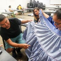 Workshop teaches students to sew Navajo skirts