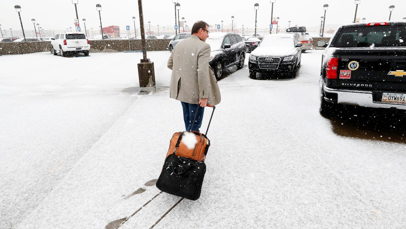 Snow blankets much of Deep South on weekend trek up East Coast to New England