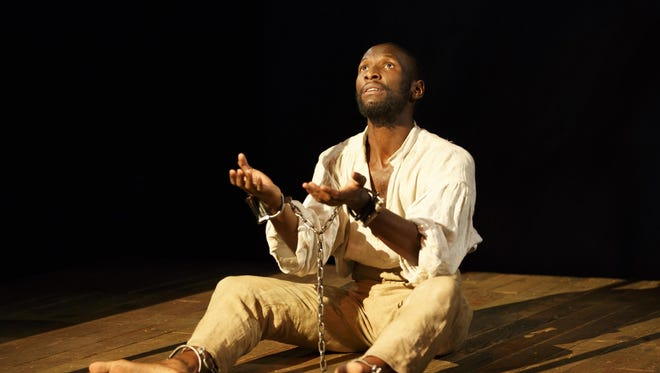 "Phillip James Brannon as Nat Turner in ""Nat Turner in Jerusalem."""