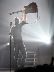 Blake Shelton performs at Bridgestone Arena  Friday March 4, 2016, in Nashville, Tenn.