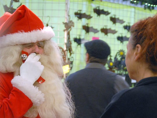 Santa, a.k.a. Sandy Elkin, can be found at the Farmers