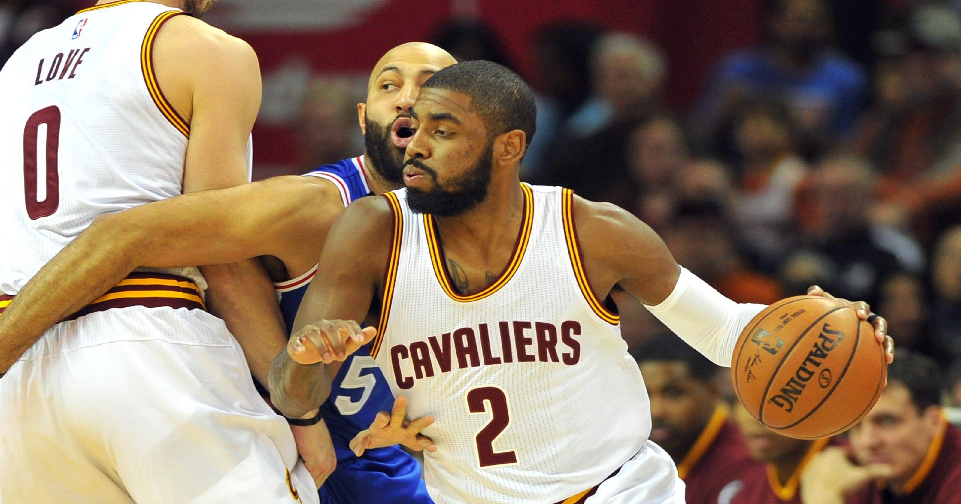 74e1d8e01736 Kyrie Irving boosts Cavaliers despite uneven debut