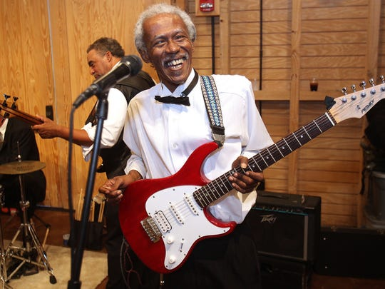 Guitarist Darryl Steele plays with Crooked Shooz at 2012's Red Cross Gala. He'll be performing Monday for the Martin Luther King  Jr. commemmoration.