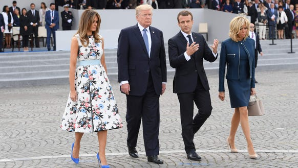 Melania makes the case for florals during Bastille