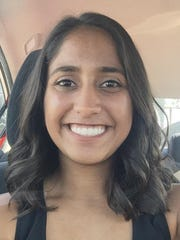Castle volleyball player Radha Patel