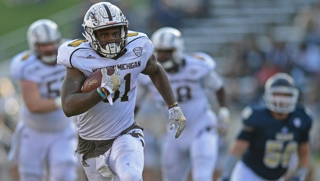 Jarvion Franklin is Western Michigan's leading rusher with 909 yards.