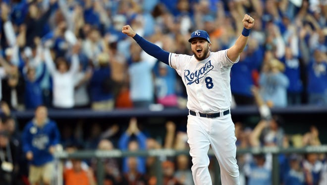 Mike Moustakas and the Royals are a perfect 8-0 this postseason.