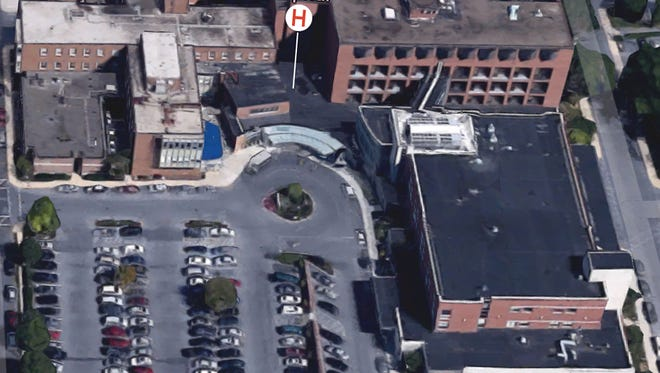An ariel view of the WellSpan Good Samaritan Hospital via Google Earth