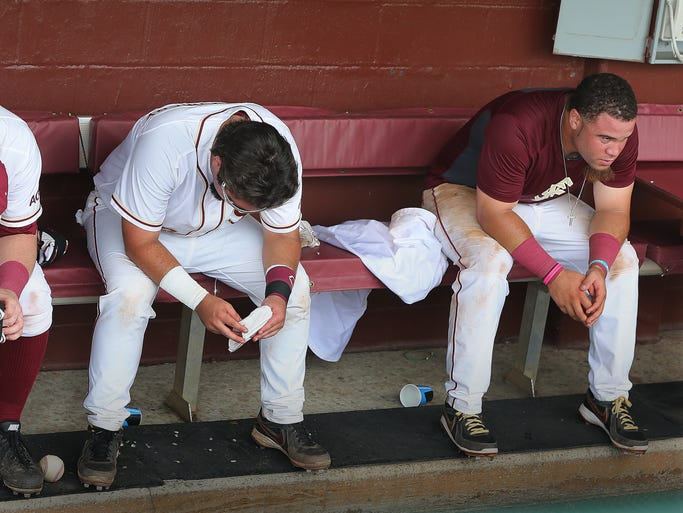 FSU players John Nogowski, Ladson Montgomery and D. J.Stewart sat emotionally drained after their ninth inning rally fell just short to end their season on Saturday. The Florida State Seminoles lost a heartbreaker to Alabama on Saturday afternoon, 6-5. Trailing 6-0 and going into the ninth inning with just 4 hits, the Seminoles scratched, clawed and fought their way back. The loss end FSU's season.